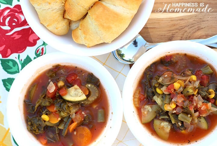 Creamy Vegetable Soup - Meatless Monday Meal