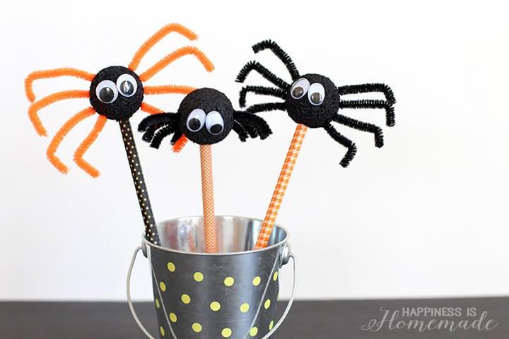 Halloween Spider Pencil Kids Craft