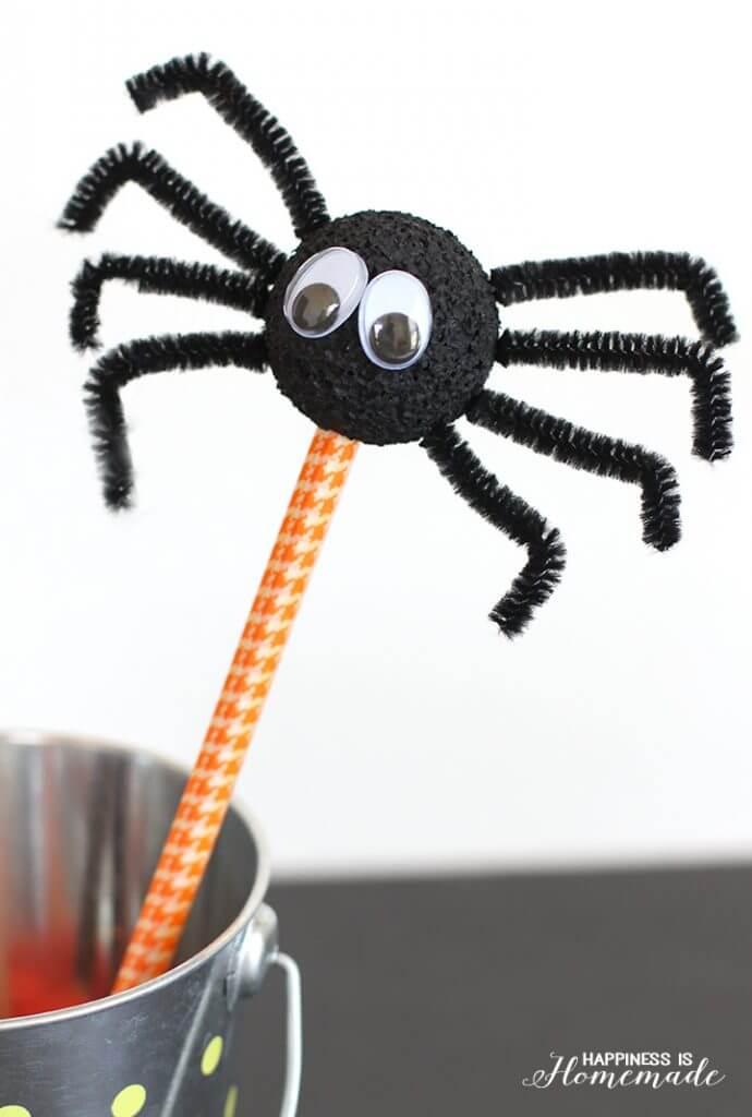 Kids Craft - Halloween Spider Pencils