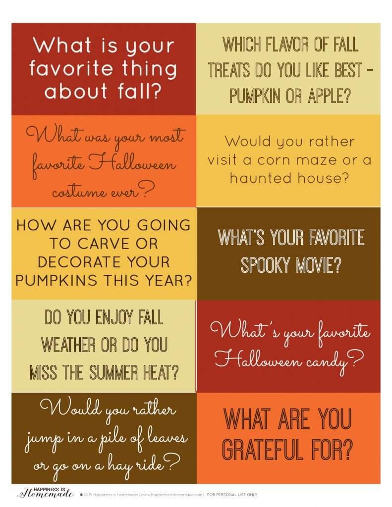 Fall Dinner Conversation Starters