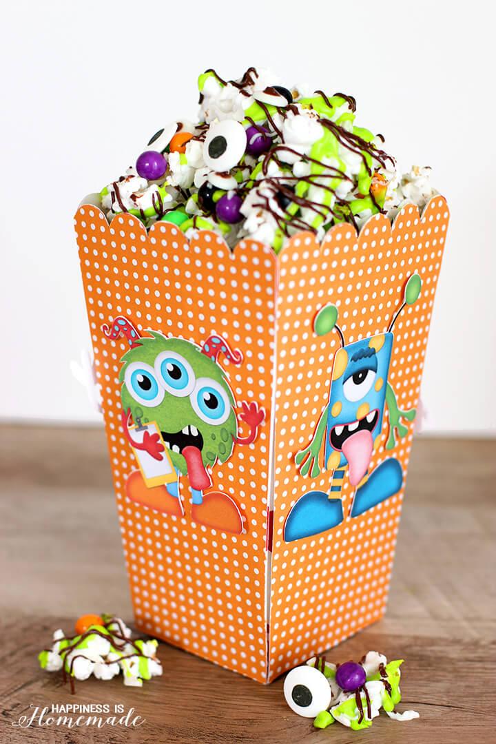 Monster Munch Popcorn Snack Mix Halloween Treat