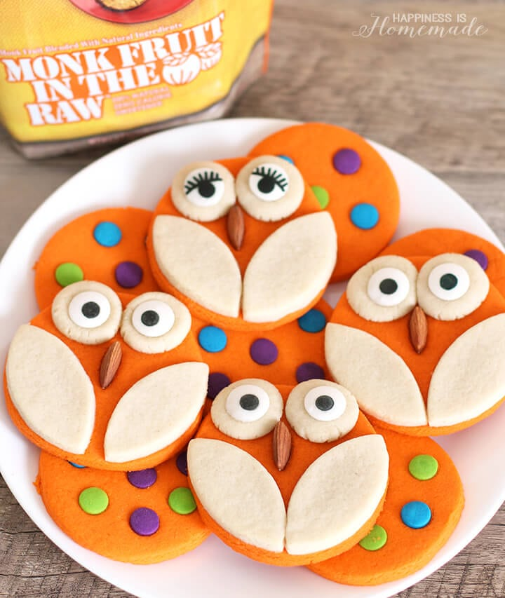 Owl and Polka Dot Halloween Cookies
