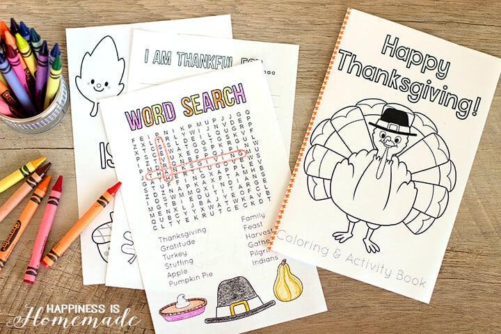 Printable Thanksgiving Coloring Book