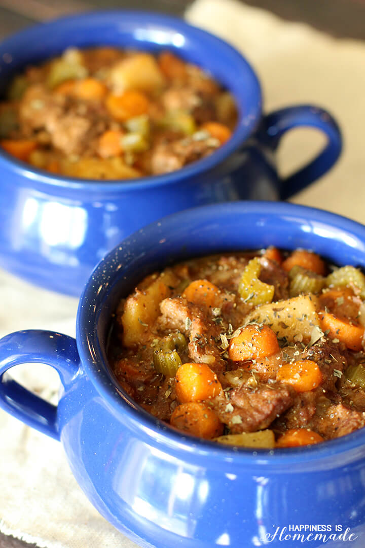 Slow Cooker Beef Stew with Campbell's Sauce