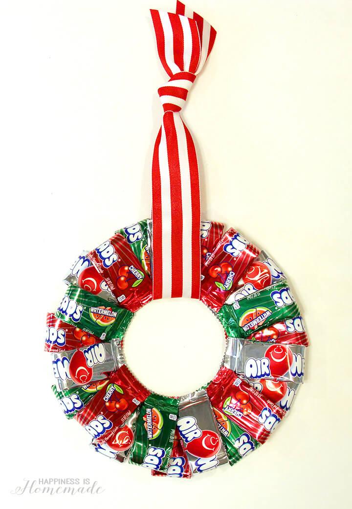Airheads Wreath Holiday Gift Idea