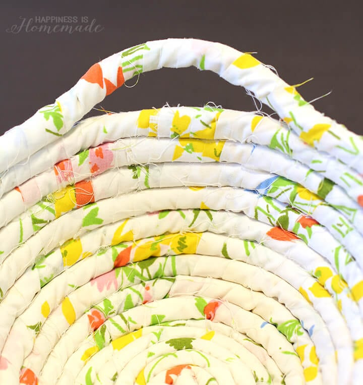 Fabric Rope Basket with Handles