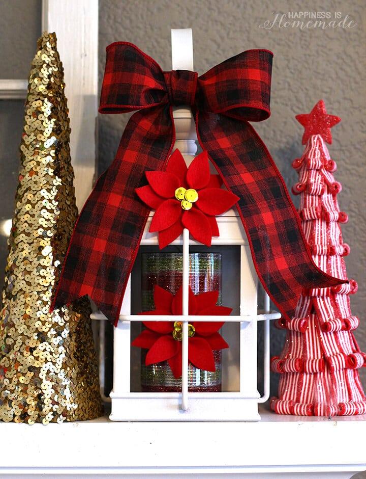 Felt Poinsettia Holiday Decorations