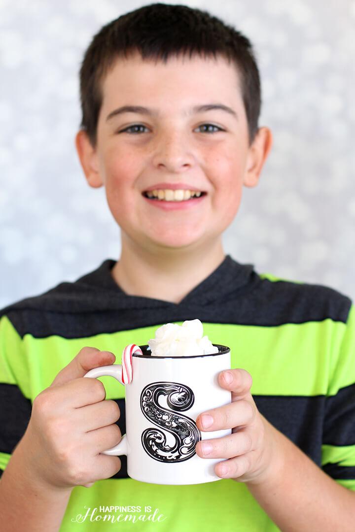 Enjoying a Mug of Heat and Serve International Delight Hot Chocolate