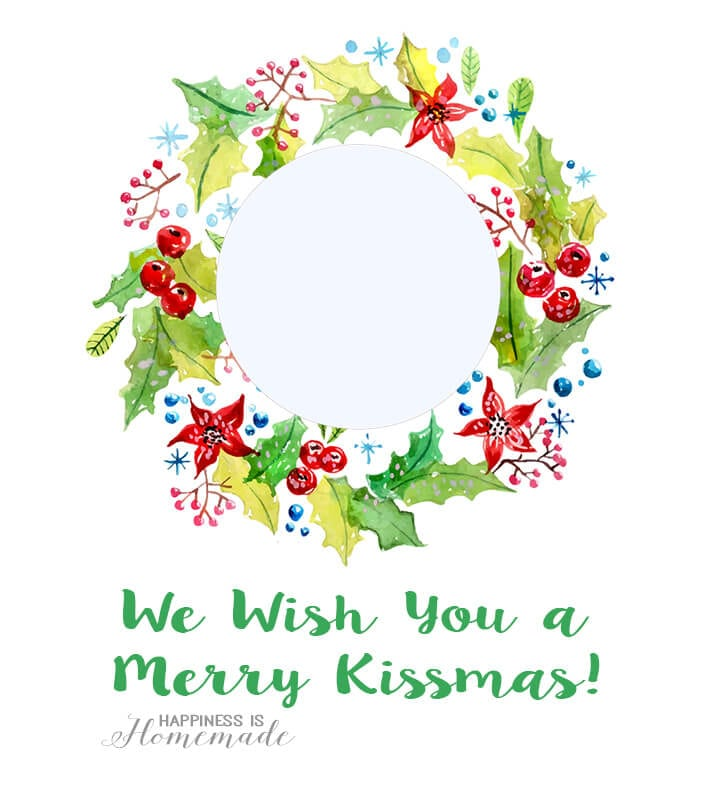 We Wish You a Merry Kissmass EOS Christmas Printable