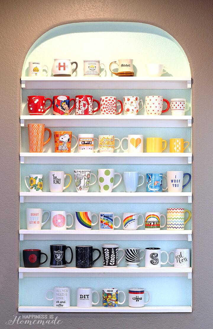 DIY Mug Storage Shelves 2