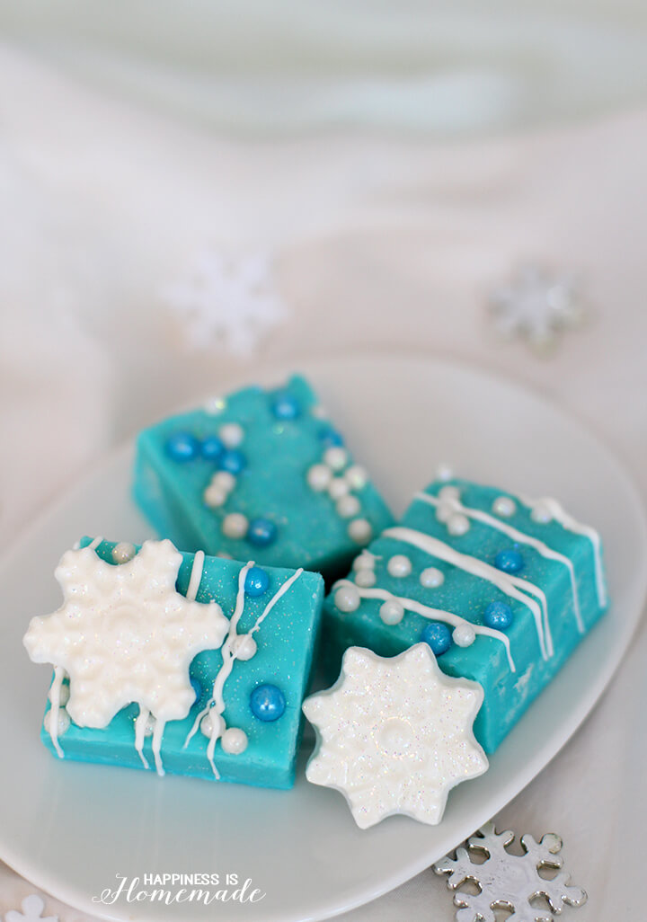 Frozen Movie Inspired White Chocolate Fudge