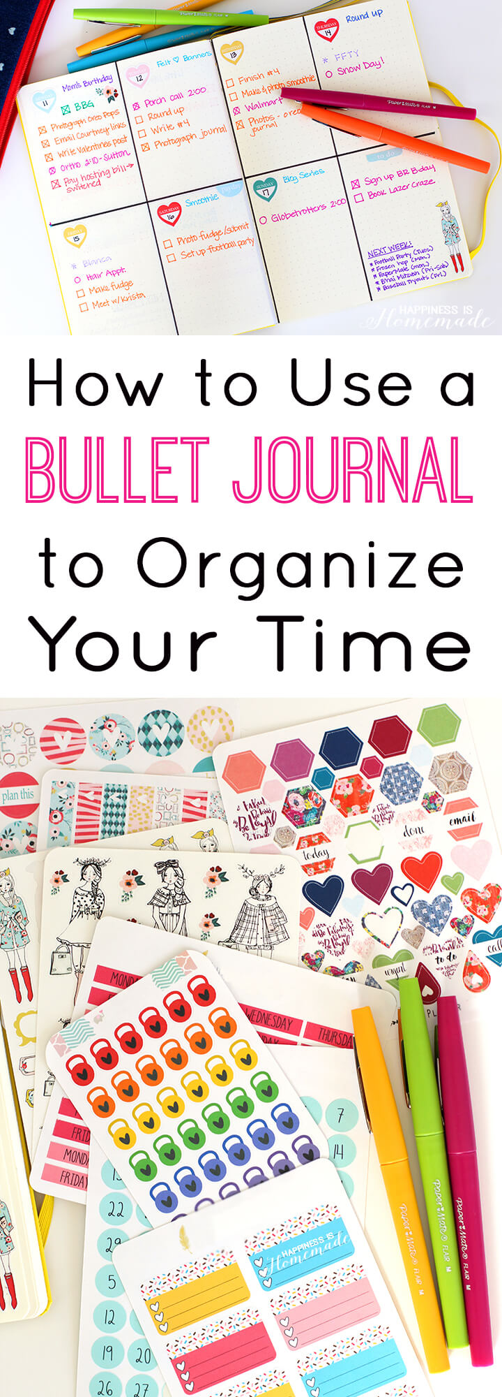 How to Use a Bullet Journal to Organize Your Time