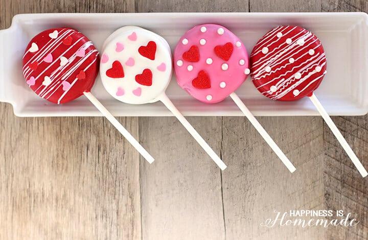 Oreo Pop Treats for Valentine's Day