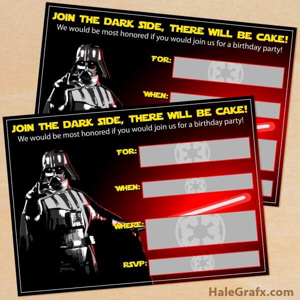 Quick Printable Invitations