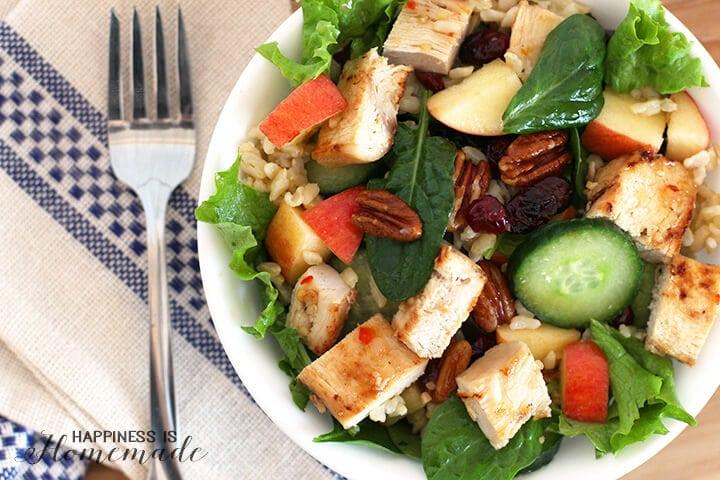 Brown Rice Chicken Apple Salad