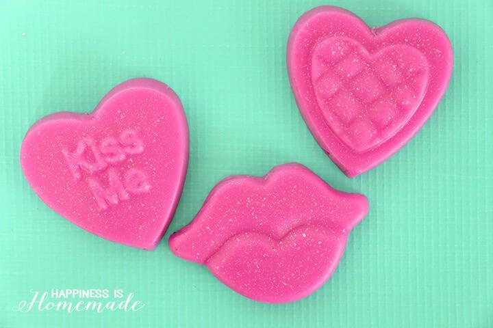 Cranberry Pomegranate Valentine's Day Soap Gift Idea