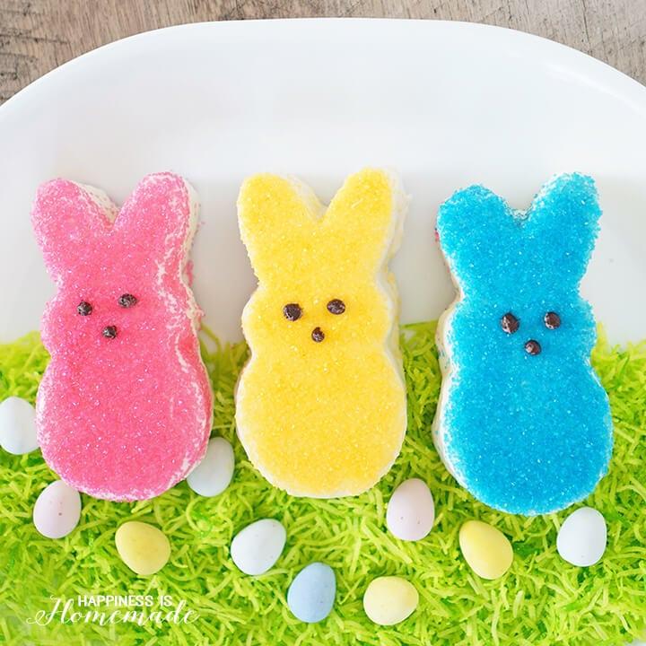 Easy Eastr Bunny Cakes