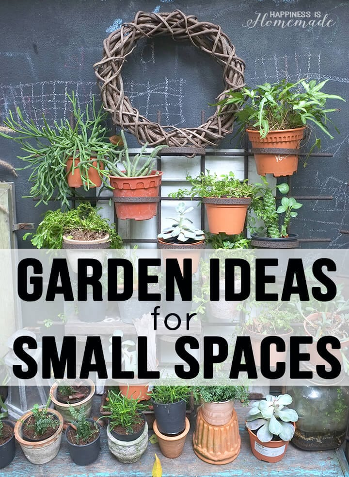 20 Garden Ideas for Small Spaces - Happiness is Homemade on Landscape Garden Designs For Small Gardens id=50795