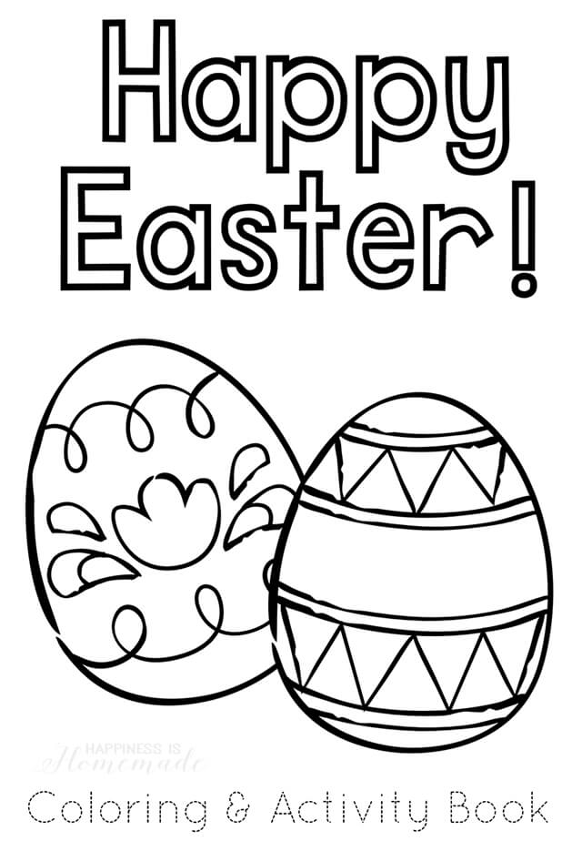 Free Printable Easter Coloring And Activity Book