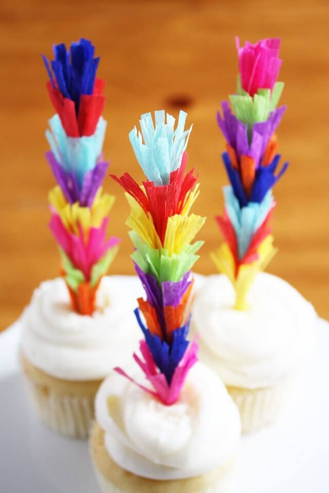 Fiesta Fringe Cupcake Toppers