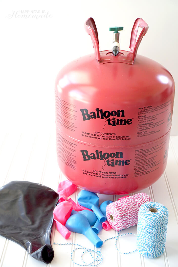 Balloon Time Helium Tank and Balloons for Gender Reveal