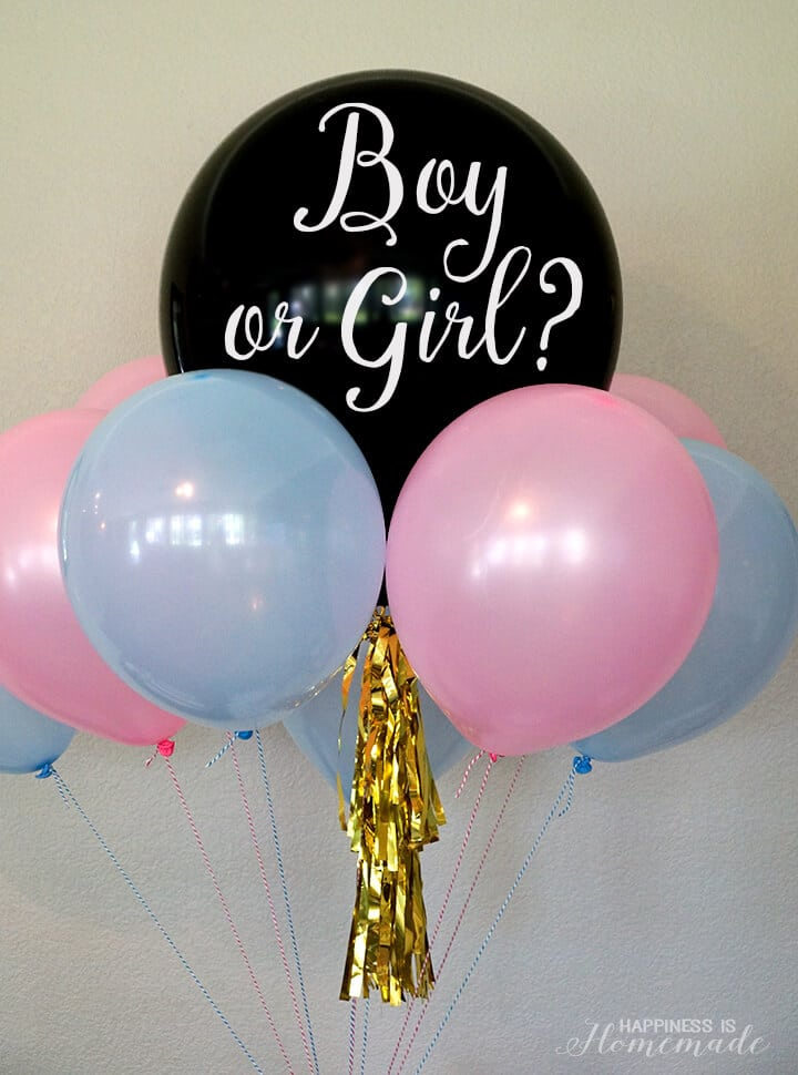 Gender Reveal Party Balloon Bouquet - Boy or Girl