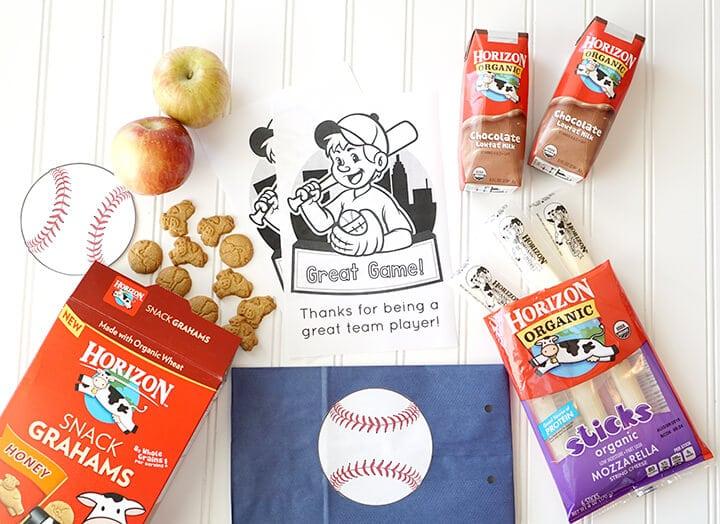 Horizon Organic Products for Healthy Baseball Snack Idea