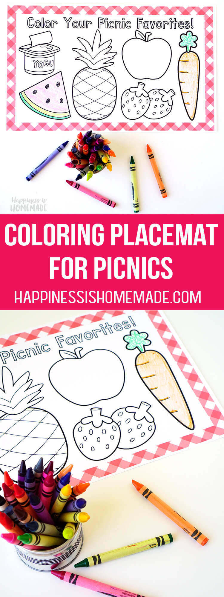 Coloring Placemat for Picnics