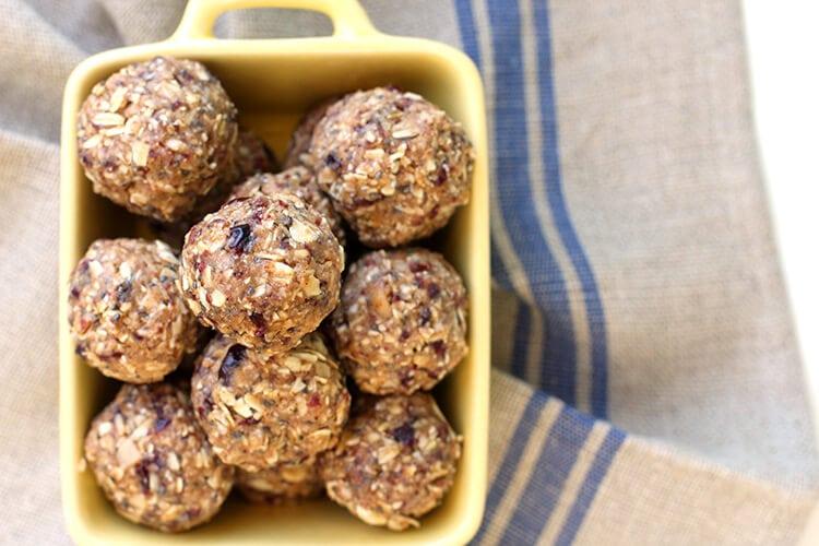 Cranberry Almond Energy Bites Recipe