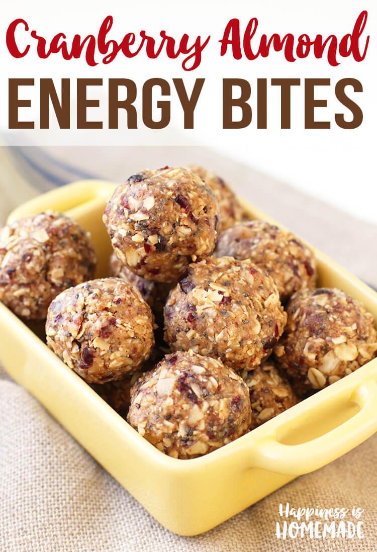 Cranberry Almond Energy Bites with Protein Recipe