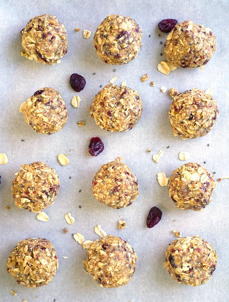 Cranberry Almond Energy and Protein Bites