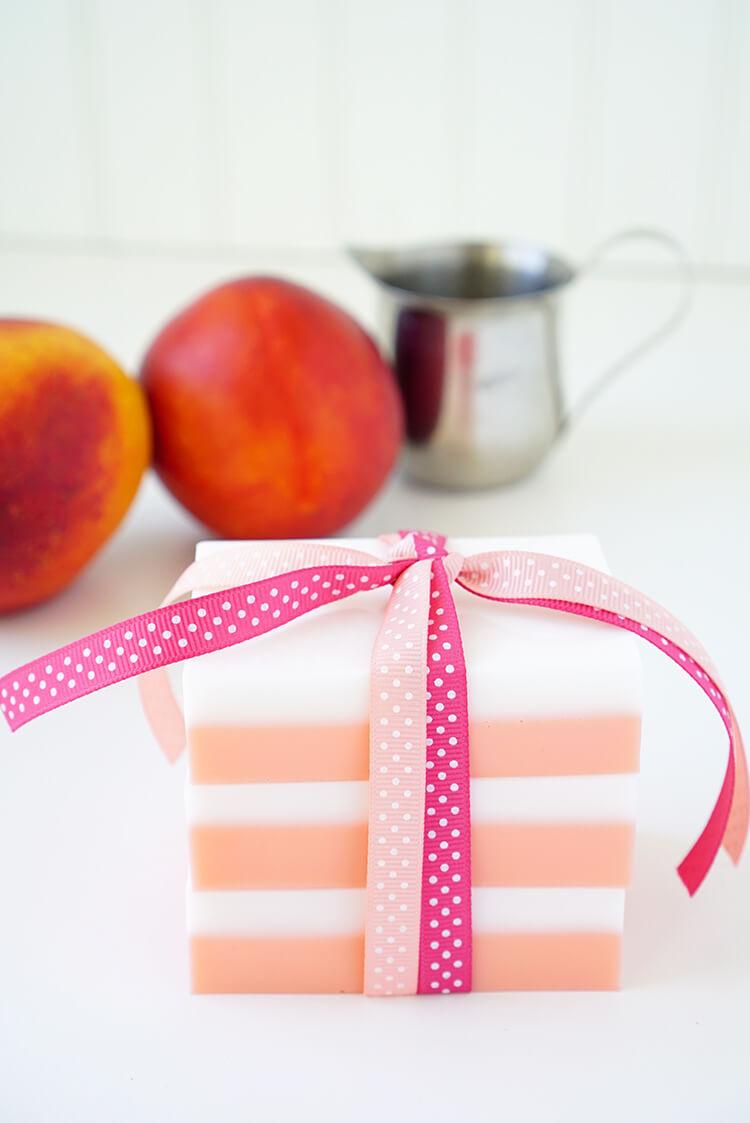 DIY Homemade Peaches and Cream Soap