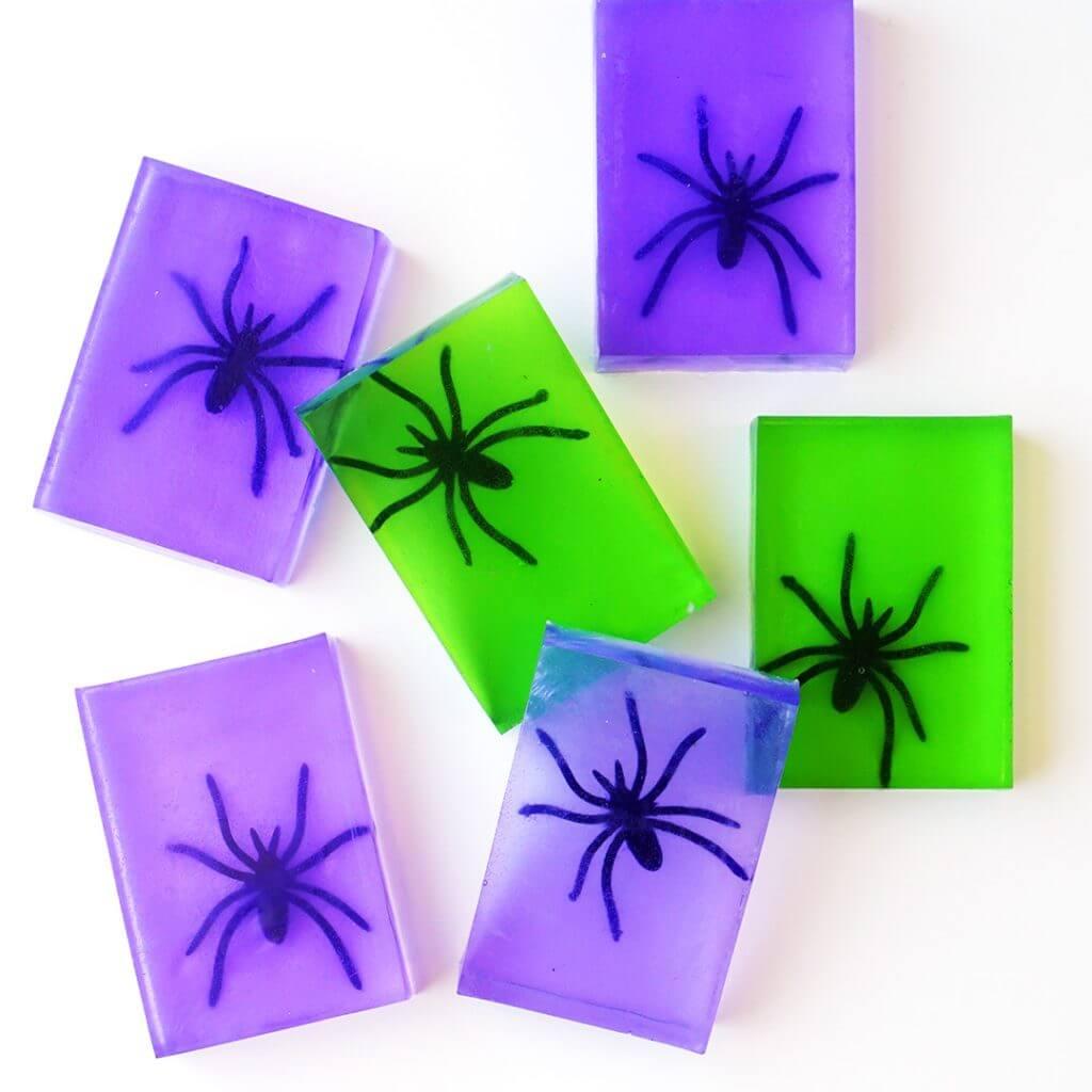 Fun Spider Soap Halloween Craft