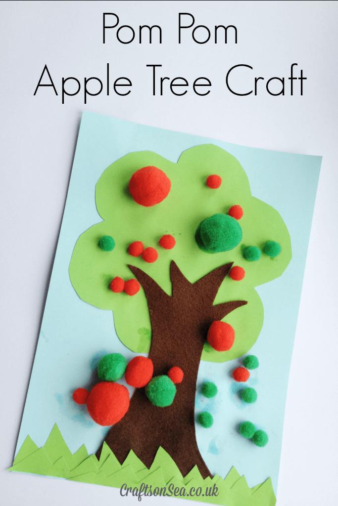 Pom-Pom-Apple-Tree-Craft