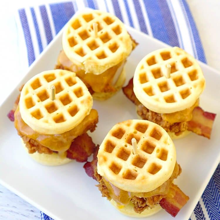 cornbread-waffle-and-chicken-sliders