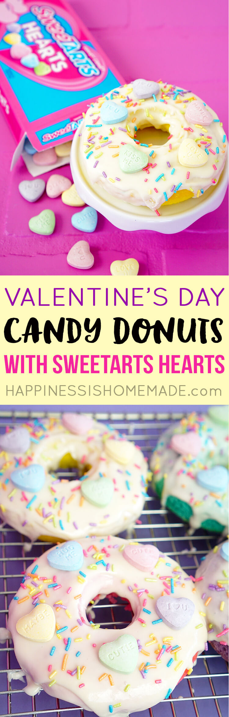 SweeTART Hearts Candy Valentine's Day Donuts Gift Idea