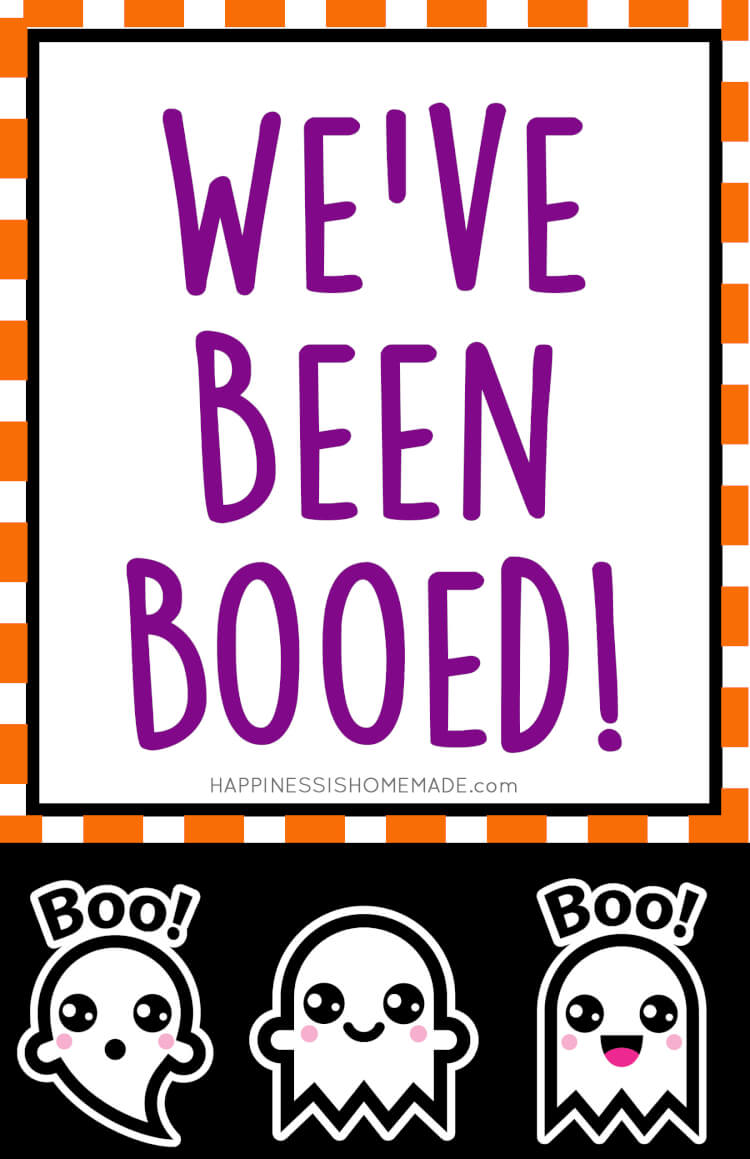 """These """"You've Been Booed"""" Halloween printables are SO much fun!Does your neighborhood boo each other at Halloween time? Not sure what that even means? Read on, and I'm sure you'll be excited to """"Boo,"""" too! It's such a fun new tradition!"""