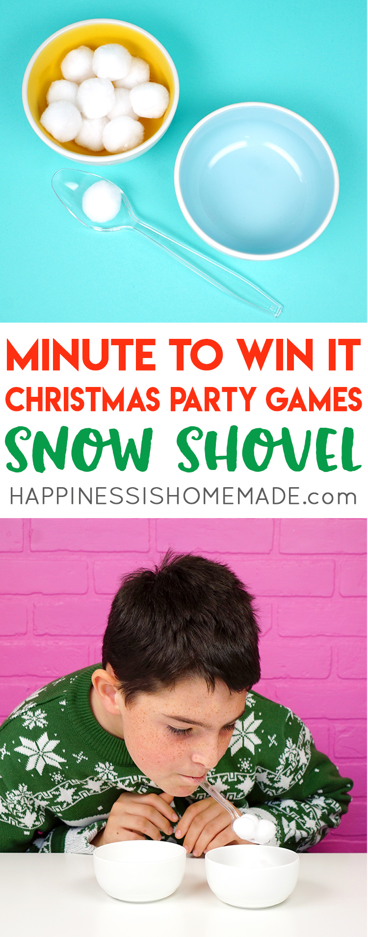 Christmas Minute to Win It Games   Happiness is Homemade SNOW SHOVEL