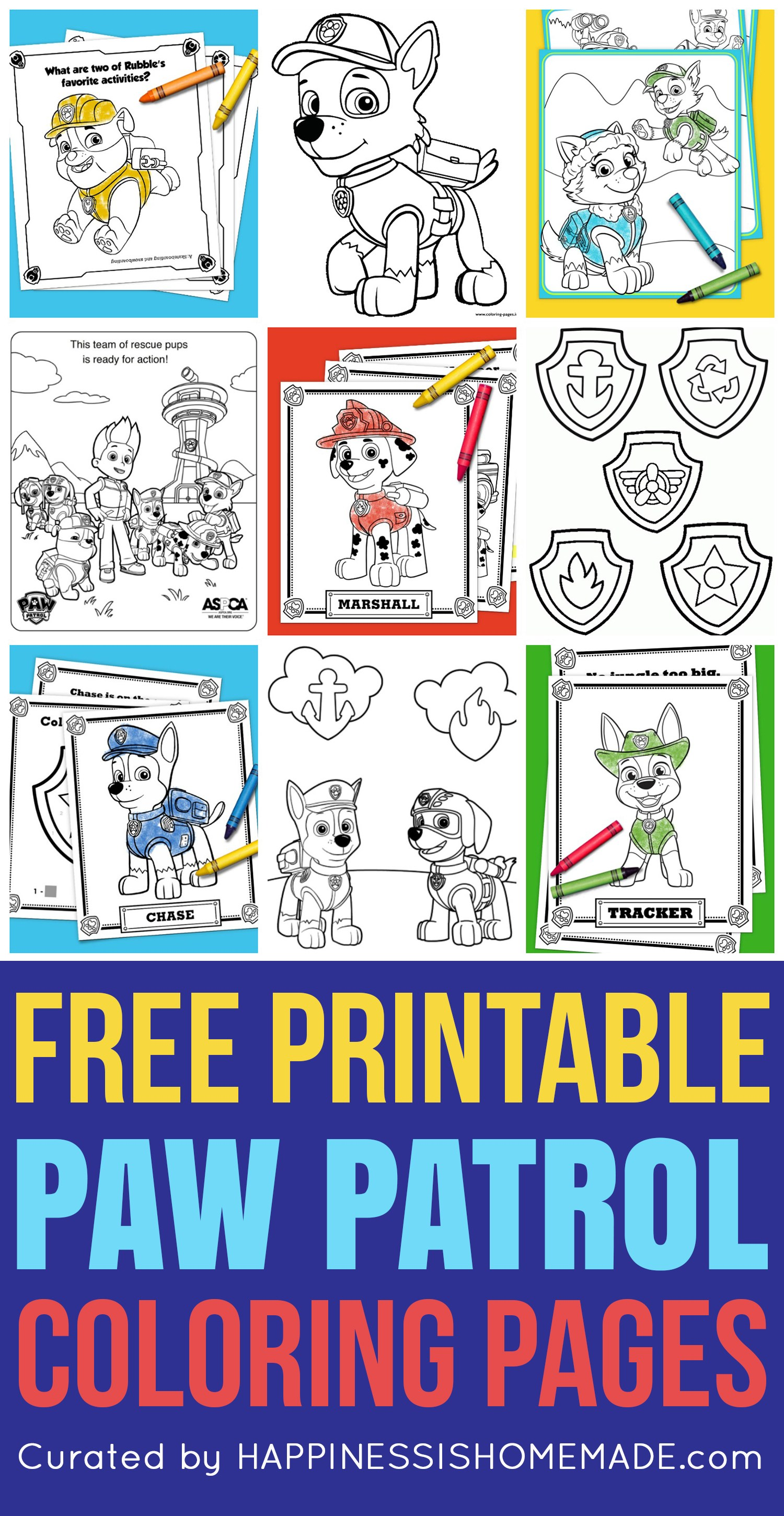 Free Paw Patrol Coloring Pages Happiness Is Homemade
