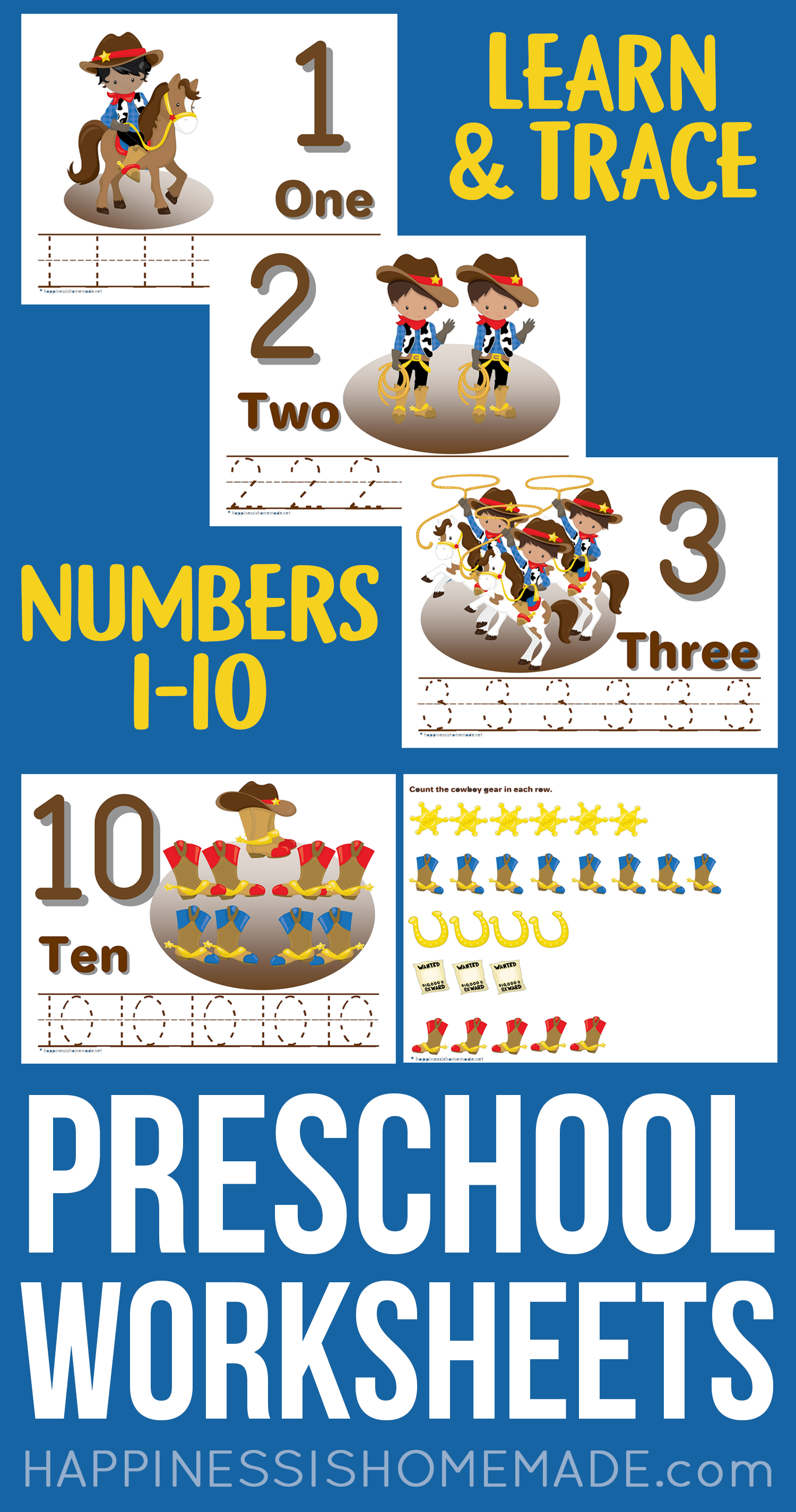 Counting On Worksheet For Preschoolers