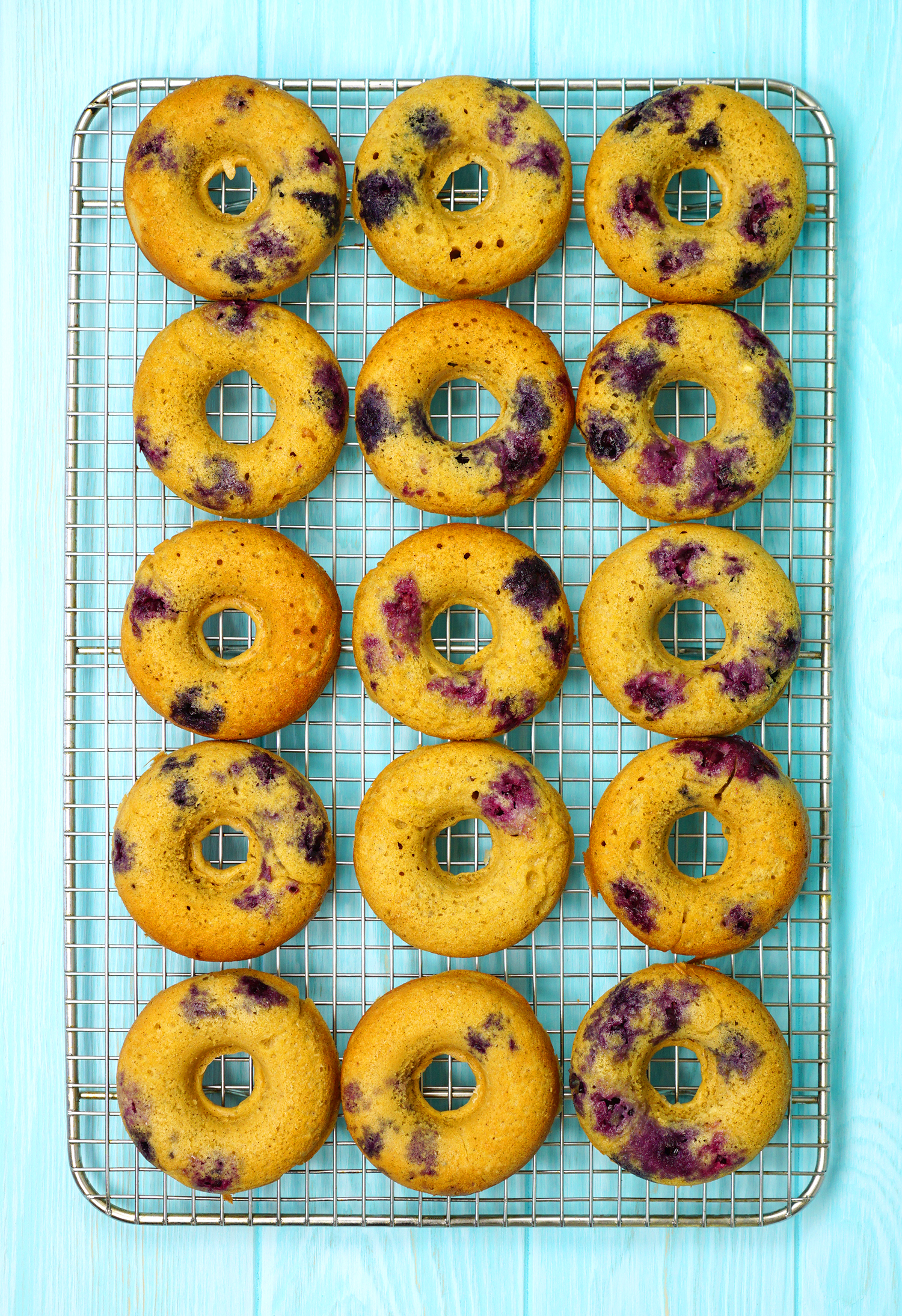 Lemon Blueberry Cake Donuts Happiness Is Homemade