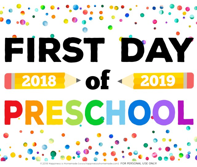 The Set Includes Back To School Printable First Day Of School Signs For Preschool Pre K Pk Transitional Kindergarten Tk And Kindergarten Along With All