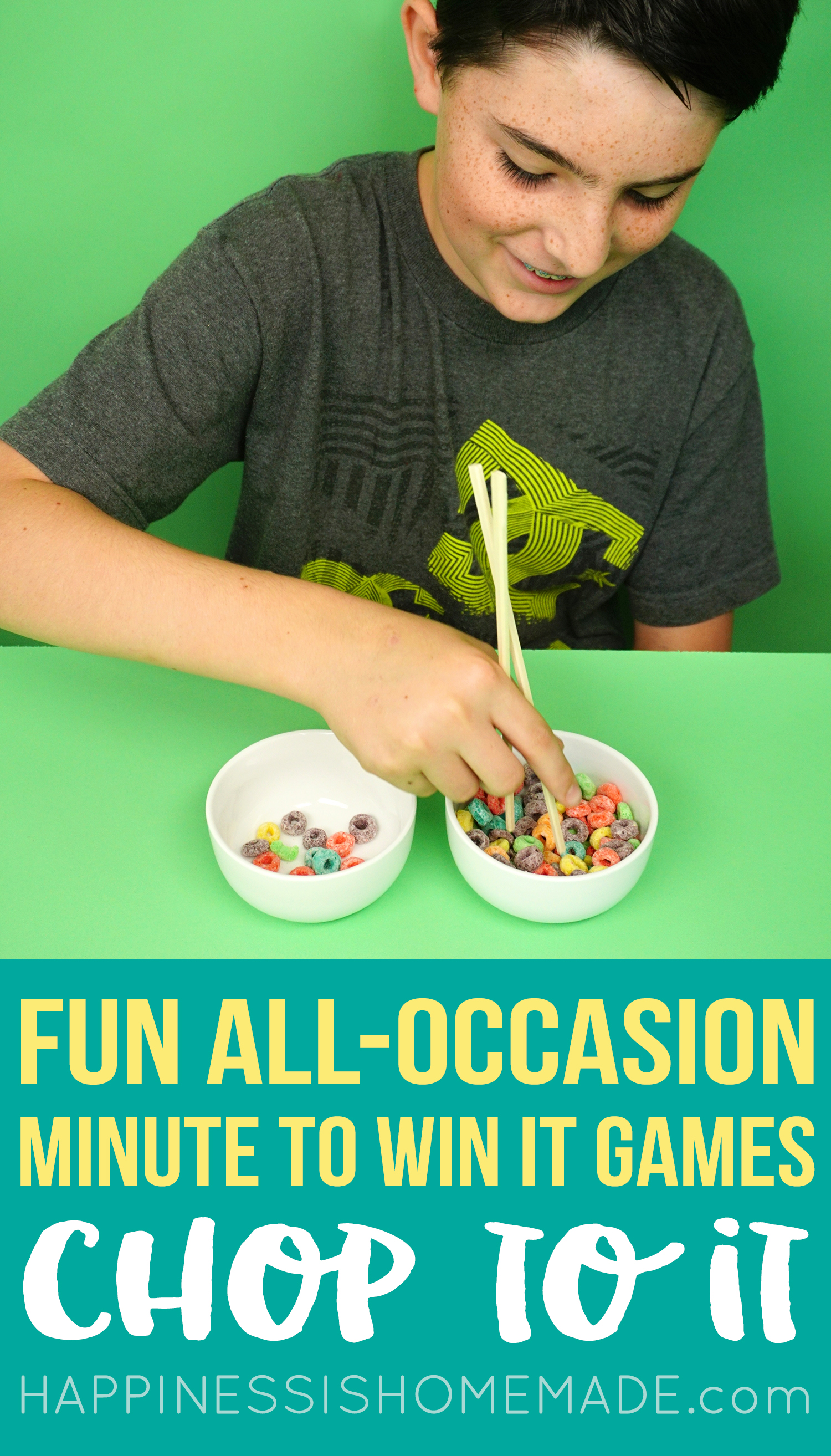 Minute to Win It Game for Kids - Chop to It