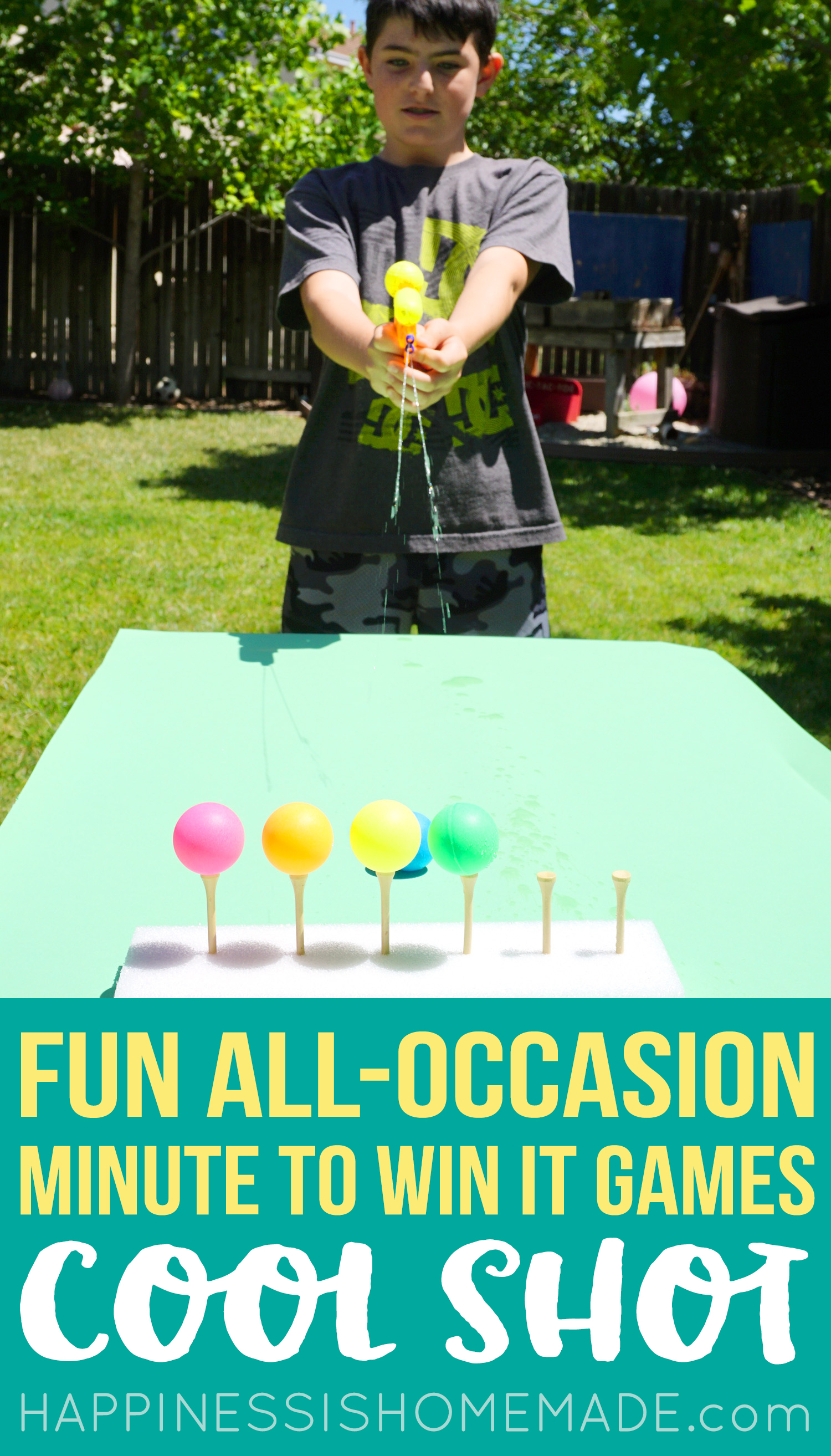 Ping Pong Ball Target and Squirt Gun Minute to Win It Game
