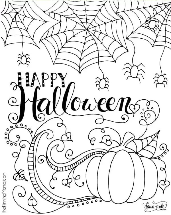 free halloween printable coloring pages # 2