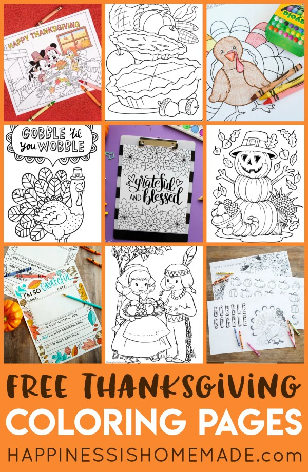 thanksgiving color pages free # 46