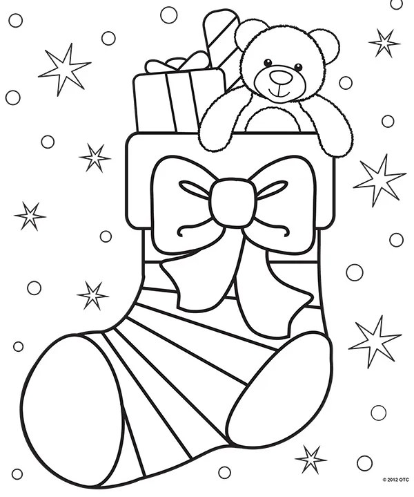 printable holiday coloring pages # 8