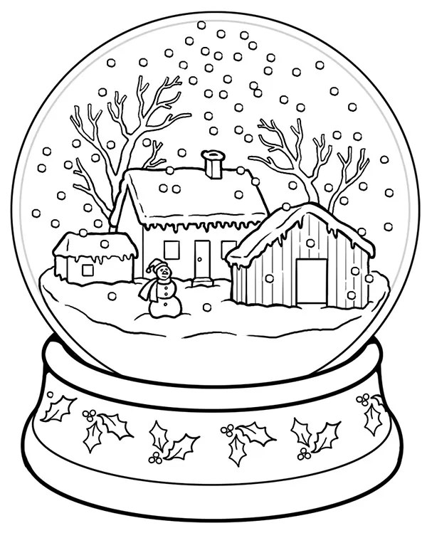 coloring christmas pages # 5