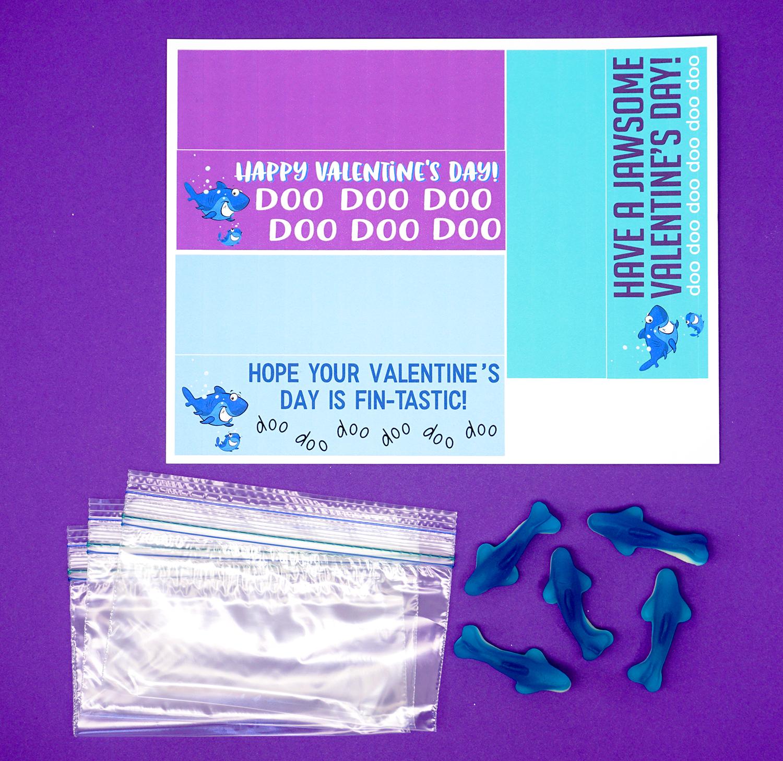Baby Shark Printable Treat Bag Supplies