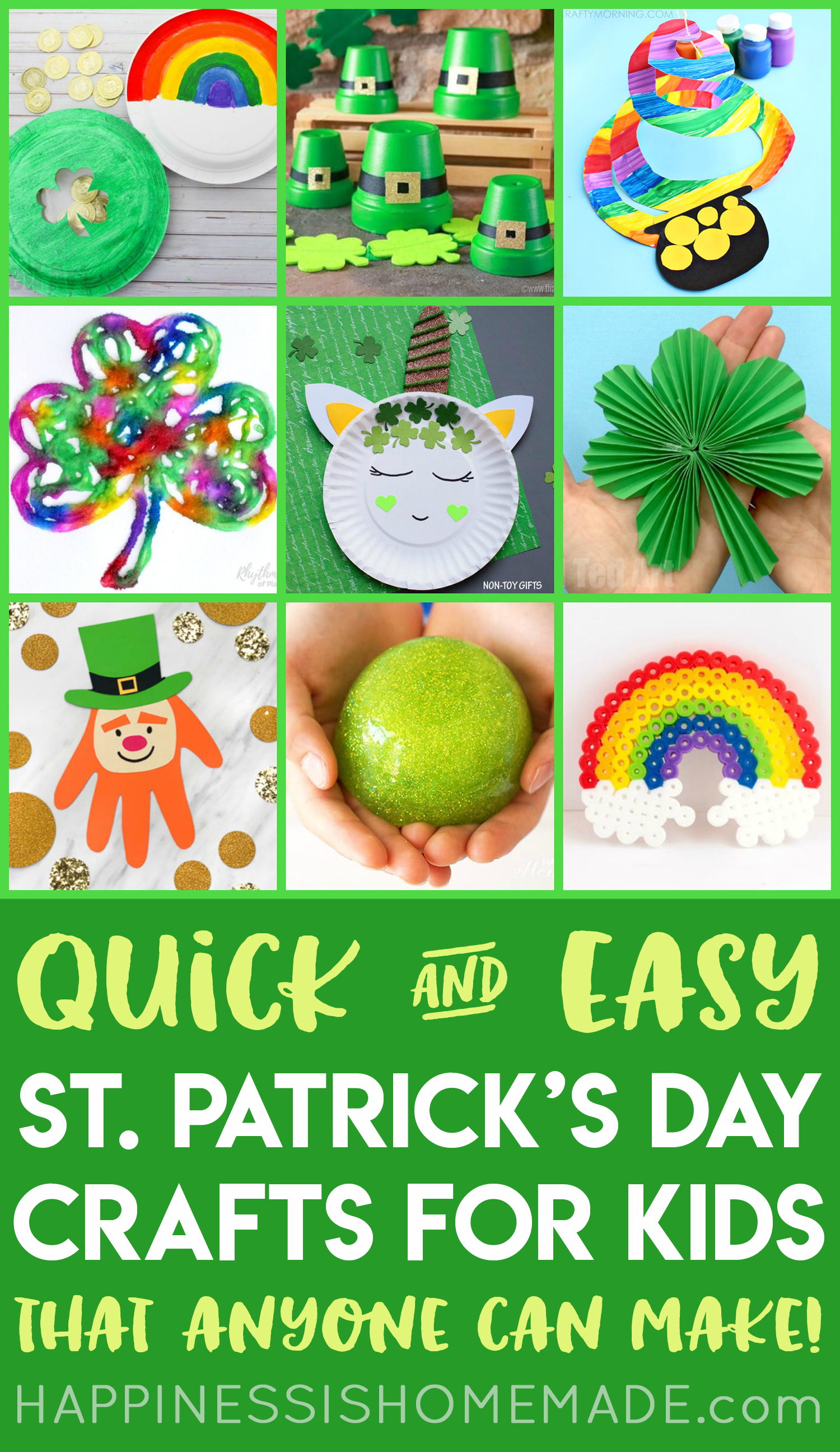 Easy St Patrick S Day Crafts For Kids